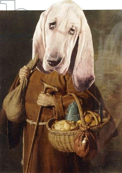 Dog as Monk; Hund als Monch, c.1958 (collage)