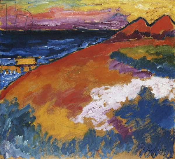 On the Ostsee; An der Ostsee, 1911 (oil on board)