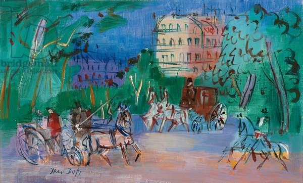 Bois de Boulogne, c.1940 (oil on canvas)