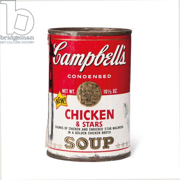 Campbell's Chicken & Stars Soup Can (aluminium can with paper decal)