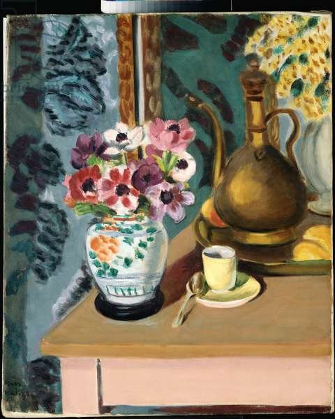 Still Life, Flowers and a Cup, 1924 (oil on canvas)
