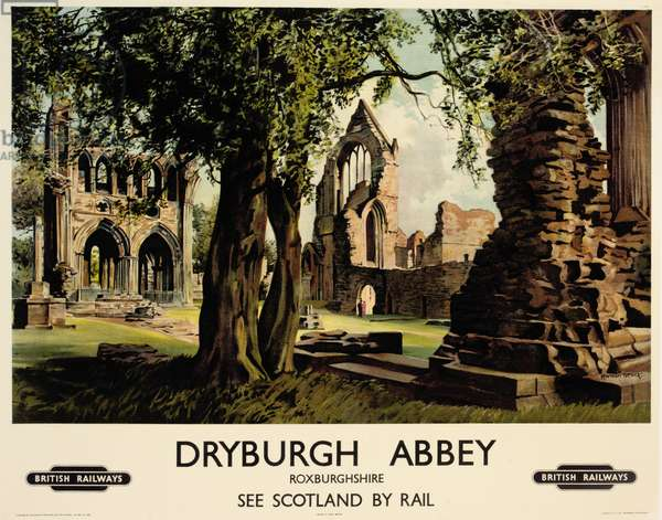 Dryburgh Abbey, poster advertising British Railways (colour litho)