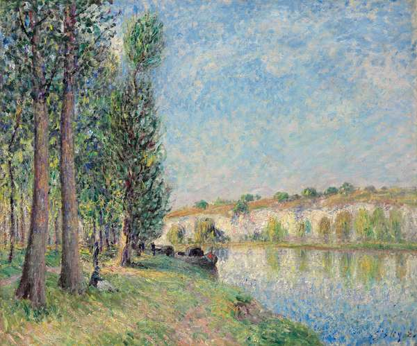 The Loing at Moret; Le Loing a Moret, 1885 (oil on canvas)