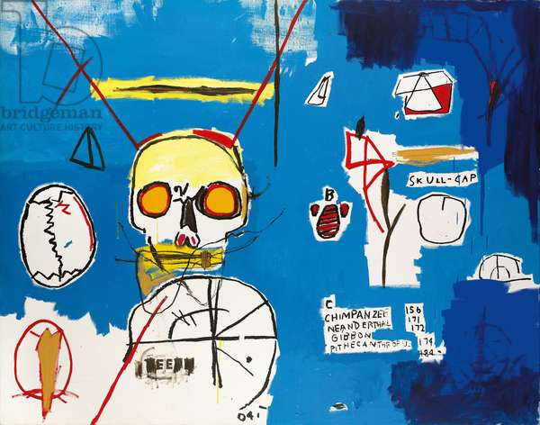 Untitled (Skull B), 1984 (acrylic and silkscreen ink on canvas)