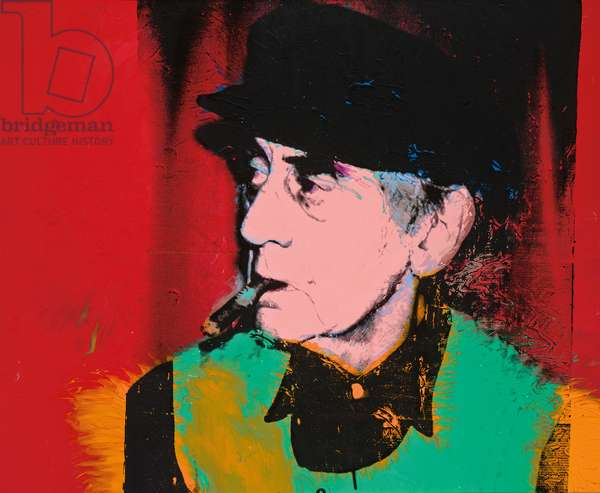 Portrait of Man Ray, 1974 (synthetic polymer, acrylic and silkscreen inks on canvas)