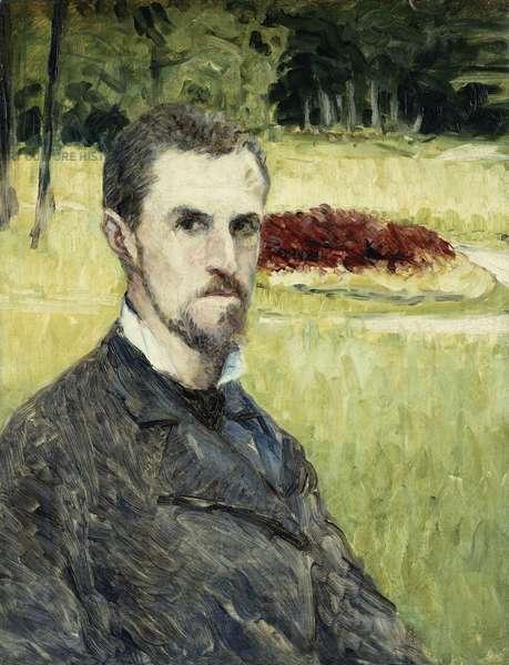 Portrait of the Artist by Himself; Portrait de L'Artist Lui-Meme, 1875-1877 (oil on canvas)