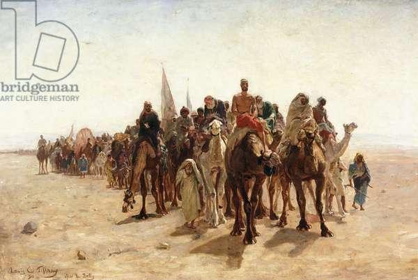 Pilgrims Going to Mecca; Pelerins allant a la Mecque, 1890 (oil on canvas)