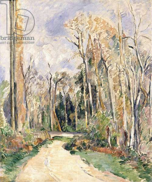Path at the entrance of the forest, c.1879 (oil and pencil on canvas)