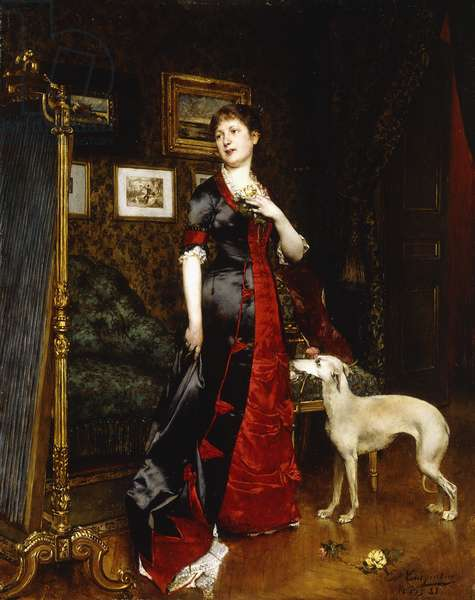 The New Dress, 1888 (oil on panel)