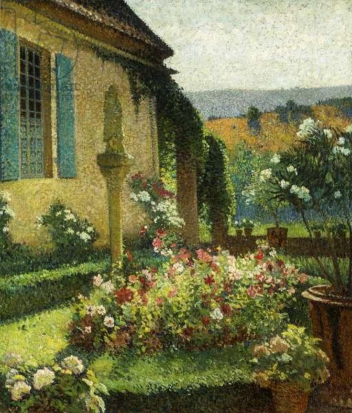 The Artist's Garden; le Jardin de l'Artiste, (oil on canvas)