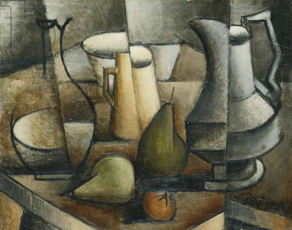 Still Life with Fruit; Nature Morte aux Fruits, (oil on board)