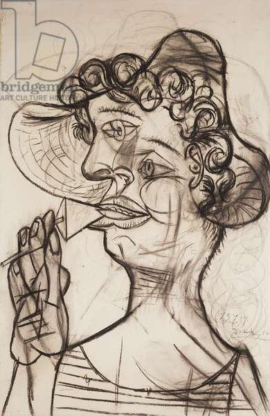Man with Lollipop; Homme a la Sucette, 1938 (charcoal on paper)