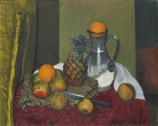 Apples and a pineapple, 1923 (oil on canvas)