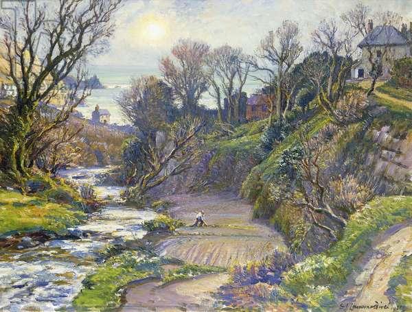 February Morning, Lamorna, 1951 (oil on canvas)