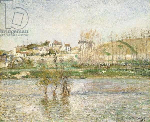 Flood in Pontoise, 1882 (oil on canvas)