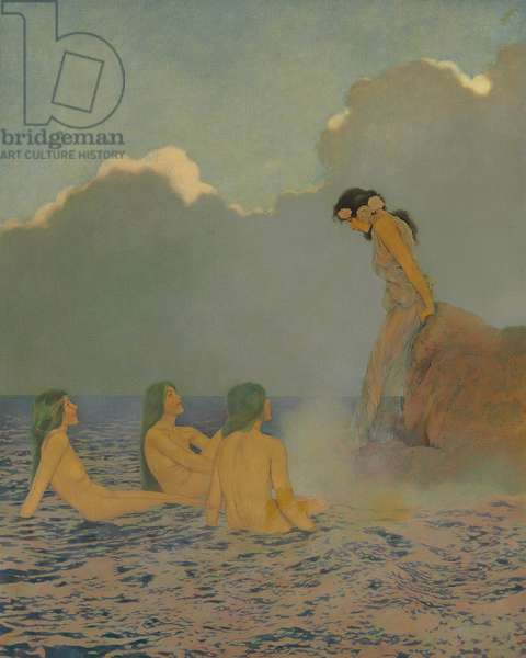 Proserpina and the Sea Nymphs, 1908 (oil on canvas)