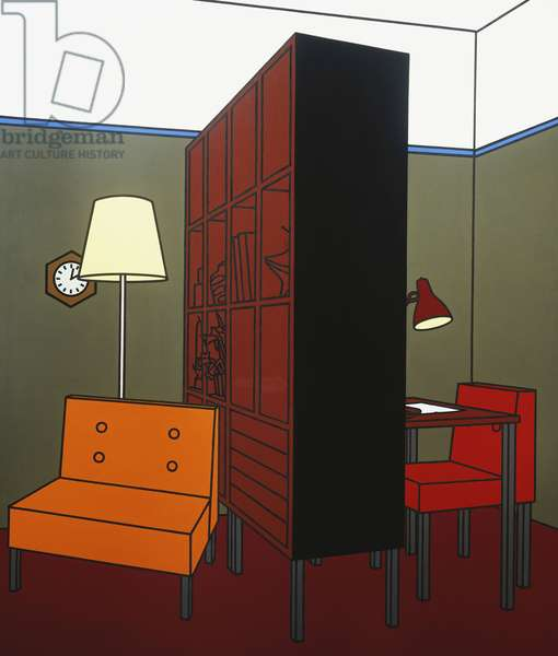 Room Divider, 1971 (acrylic and oil on canvas)