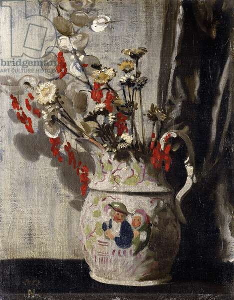 A Vase with Honesty, 1911 (oil on canvas-board)
