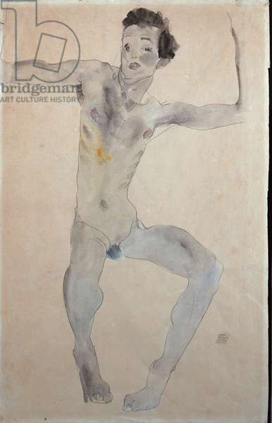 Self Portrait, 1911 (w/c and pencil on paper)