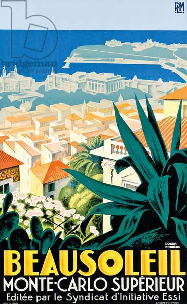 Beausoleil, Monte Carlo, c. 1928 (colour lithograph)