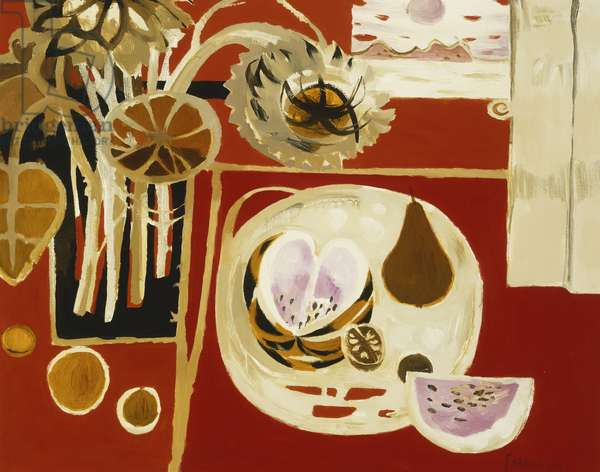 Still Life with a Melon, 1990 (oil on board)