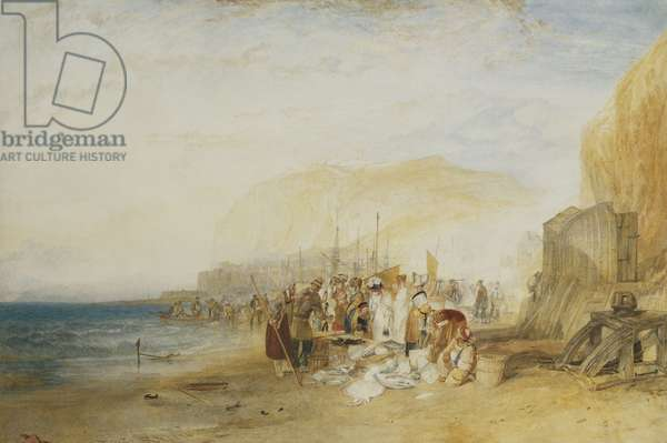 Hastings: Fish Market on the Sands, Early Morning, 1822 (pencil and watercolour heightened with bodycolour)