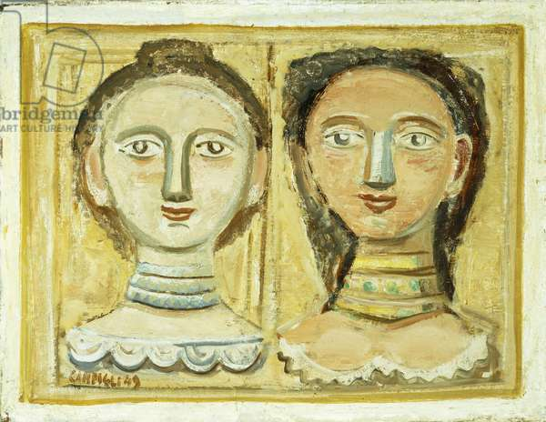 Two Women; Due Donne, 1949 (oil on canvas)