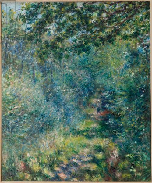 Trail in the woods, c.1874-77 (oil on canvas)