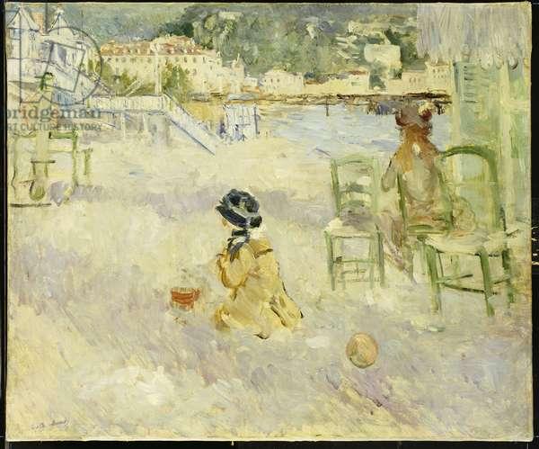 The Beach at Nice, 1882 (oil on canvas)