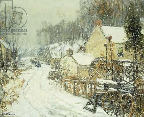 Pennsylvania Snowstorm,  (oil on canvas)