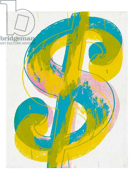 Dollar Sign, 1981 (synthetic polymere paint and silkscreen inks on canvas)