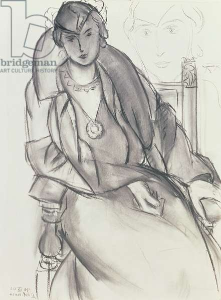 Lydia, 1935 (charcoal on paper)