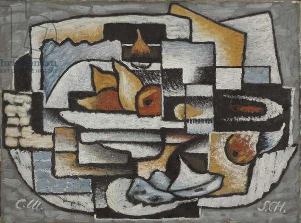 Composition, Ornamental Cubism, 1922 (oil on canvas)