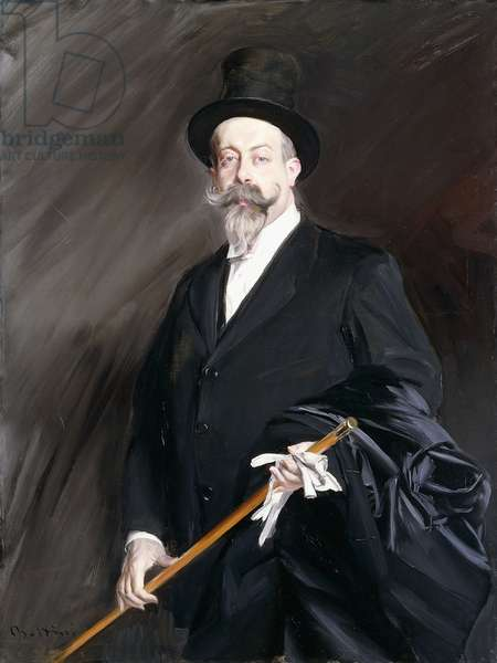 Portrait of Willy, the Writer, Henri Gauthier-Villars,  (oil on canvas)