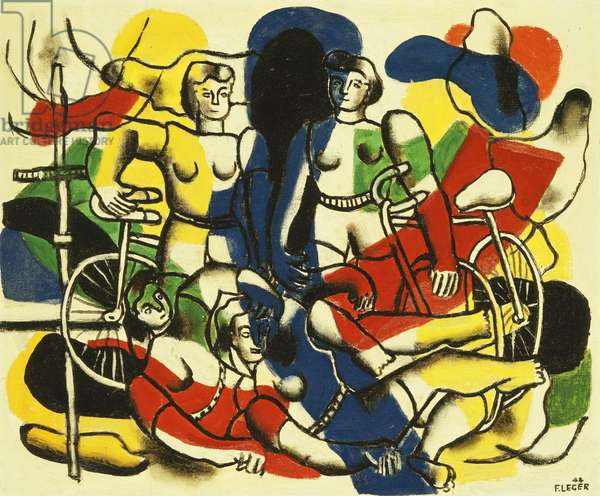 The Beautiful Cyclists; Les Belles Cyclistes, 1944 (oil on canvas)