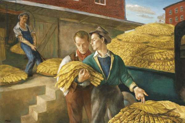 Taking Tobacco,  (oil on canvas)