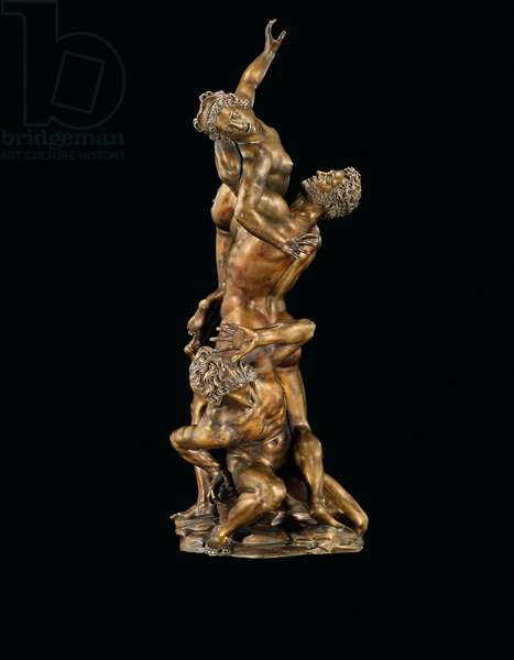 A bronze group the the Rape of a Sabine, Florence, c.1587-98 (bronze)