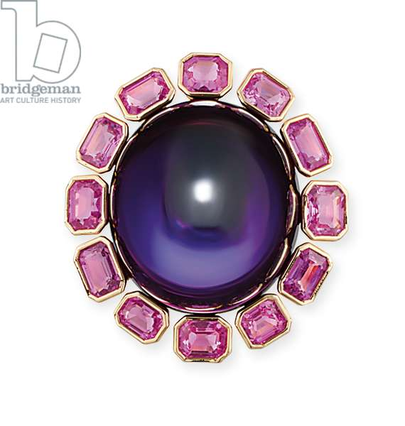 Cocktail ring (amethyst & pink sapphires)