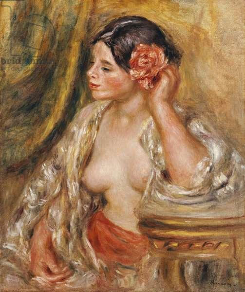 Gabrielle a sa Coiffure, 1910 (oil on canvas)