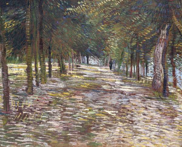 The Avenue at the Park of Voyer-d'Argenson at Asnieres, 1887 (oil on canvas)
