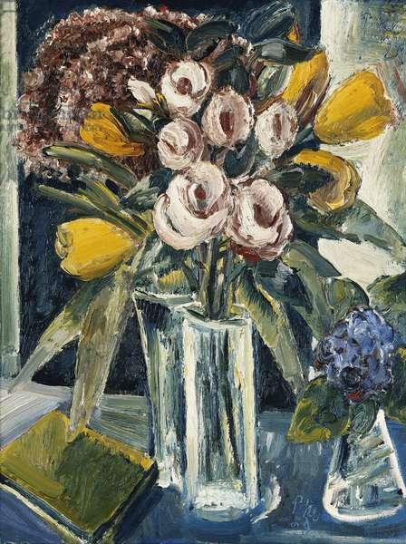 Still Life of Flowers; Stilleben mit Blumen, 1929 (oil on canvas)