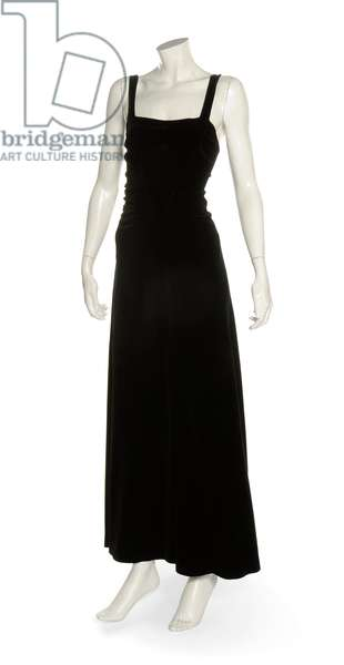 Black velvet evening gown, Coco Chanel, 1930s (photo) (see also 622602)