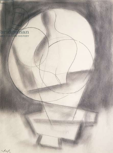 Abstract Composition;  Composition Abstraite, c.1950 (pencil on paper)