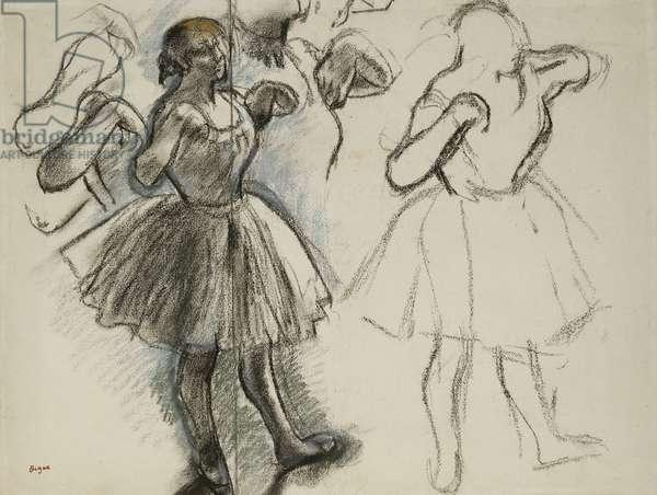 Dancers; Danseuses, (pastel on paper)