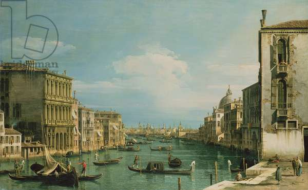 The Grand Canal Venice looking East from the Campo di San Vio (oil on canvas)