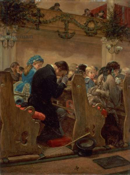 Christmas Prayers, 1872 (oil on panel)