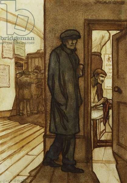 The Bruiser, (watercolour and bodycolour)
