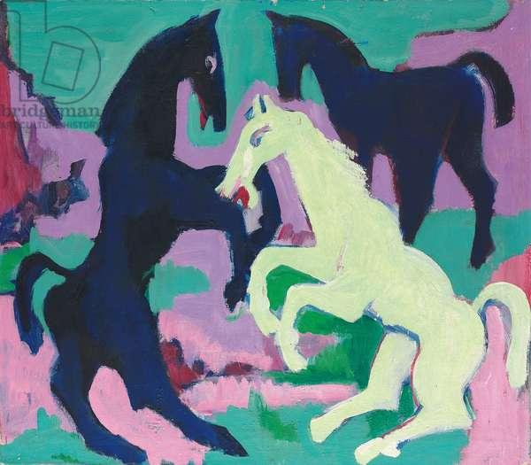 Three Horses; Drei Pferde, c.1923 (oil on canvas)