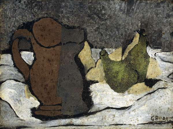 Pitcher and two Pears, c.1922 (oil and sand on canvas)
