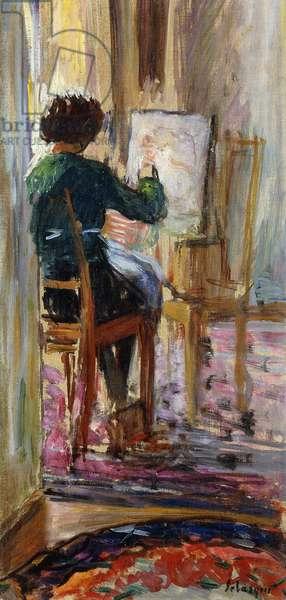 Daughter of the Artist; La Fille de l'Artiste,  (oil on canvas)
